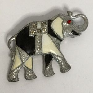 Vintage Abstract Elephant Brooch